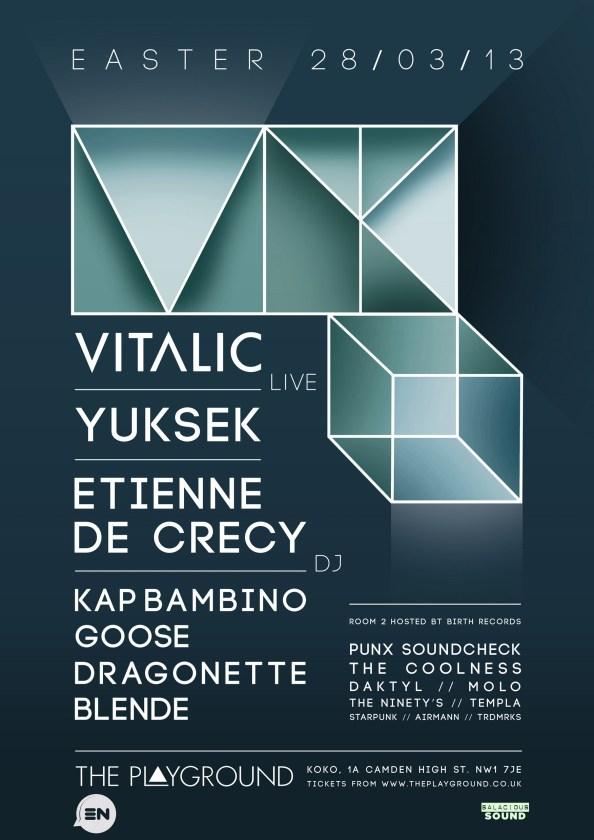 Vitalic Yuksek Etienne de crecy live at london